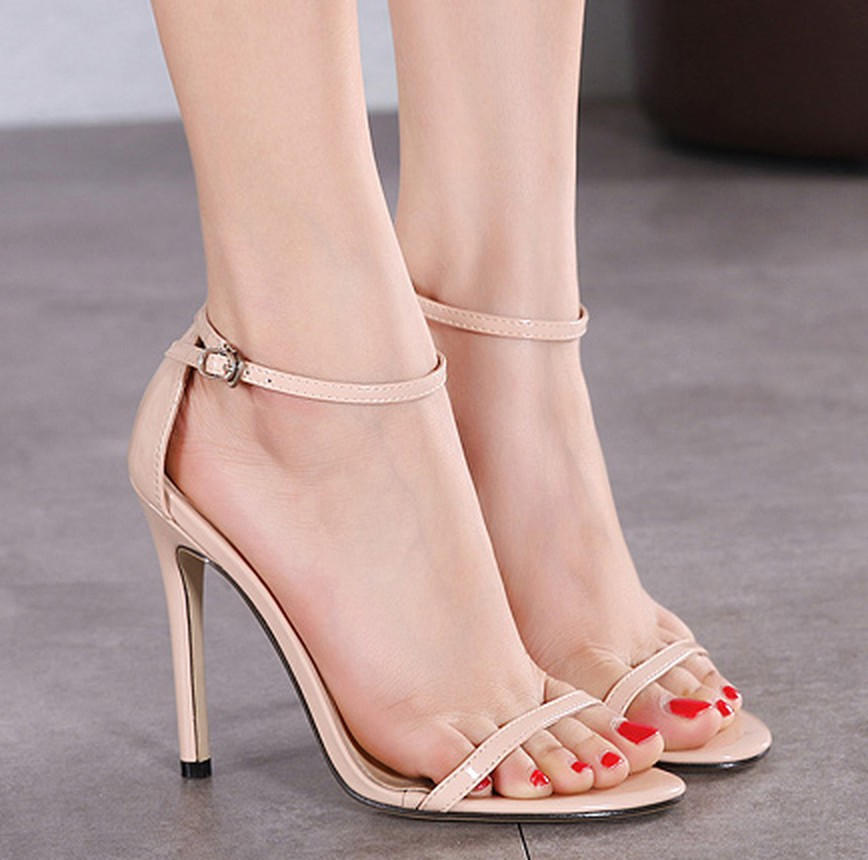 Summer High Heels New Women Pumps Comfort Woman Shoes Buckle Female Sandals Sexy Party Shoes Women Heels Female Plus Size 35-43