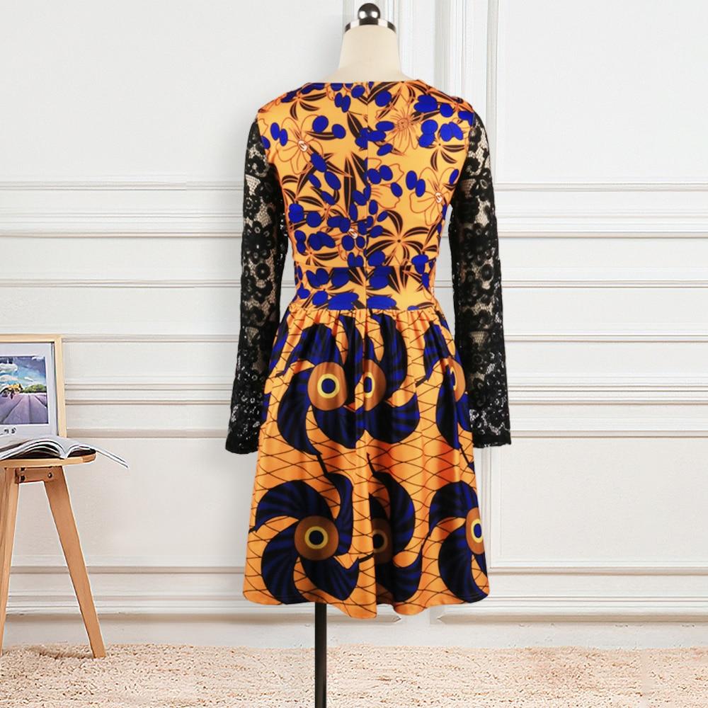 Женское платье с геометрическим принтом цветочный принт Ретро