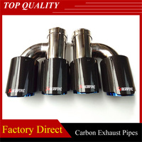 Universal Akrapovic Exhaust tips Carbon fiber h model dual exhaust pipe Stainless steel Muffler Nozzle Tips