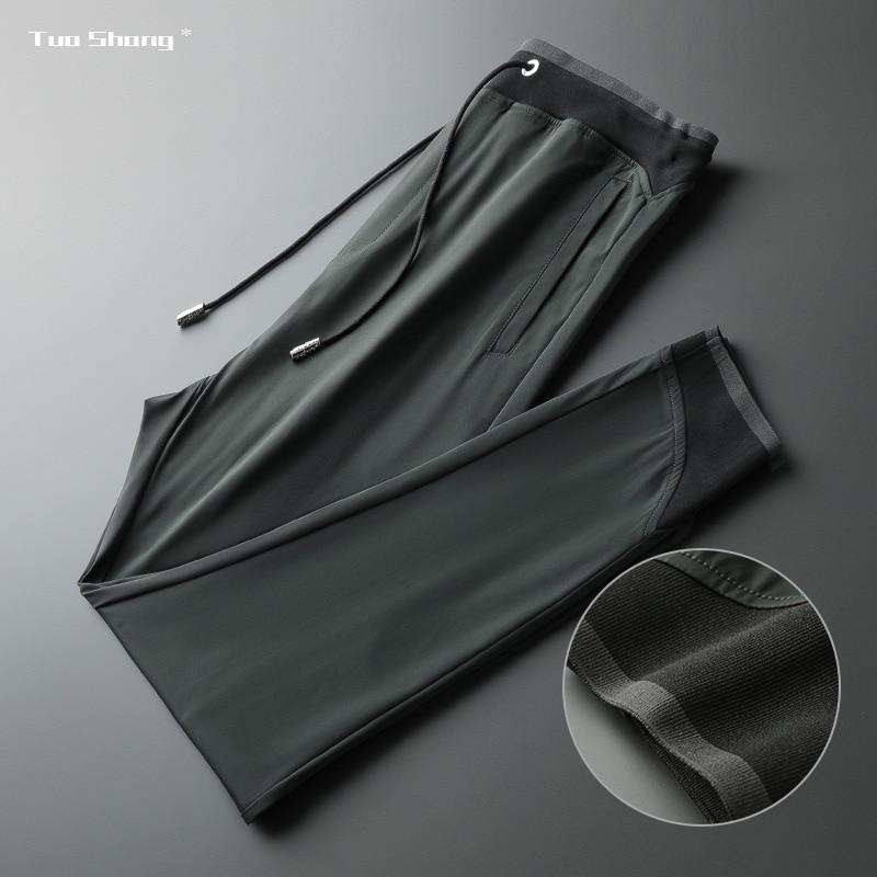 2020 Spring New Casual Jogger Pants Men Drawstring Sports Pants High Fashion Pure Color Designer Joggers Pantalones Hombre
