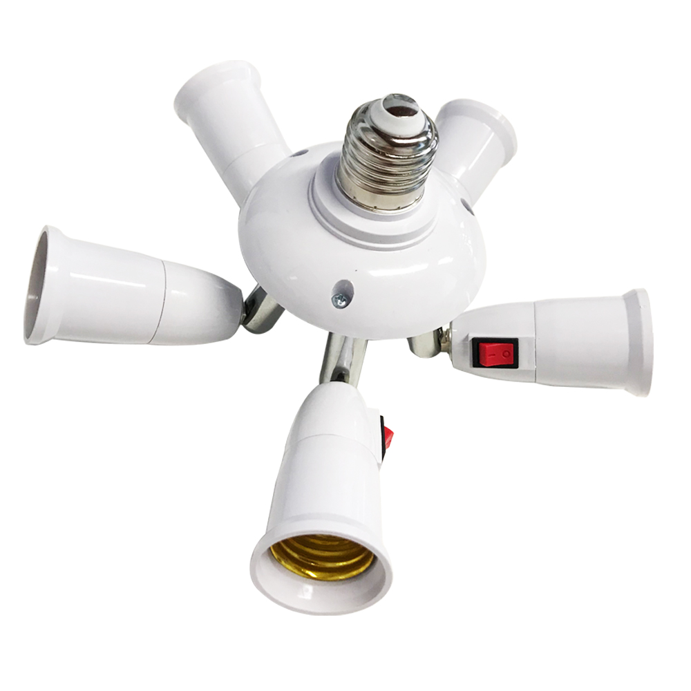 E27 Splitter 3/4/5 Heads Lamp Base Adjustable LED Light Bulb Holder Adapter Converter Socket High Quality Lamp Bulb Holder