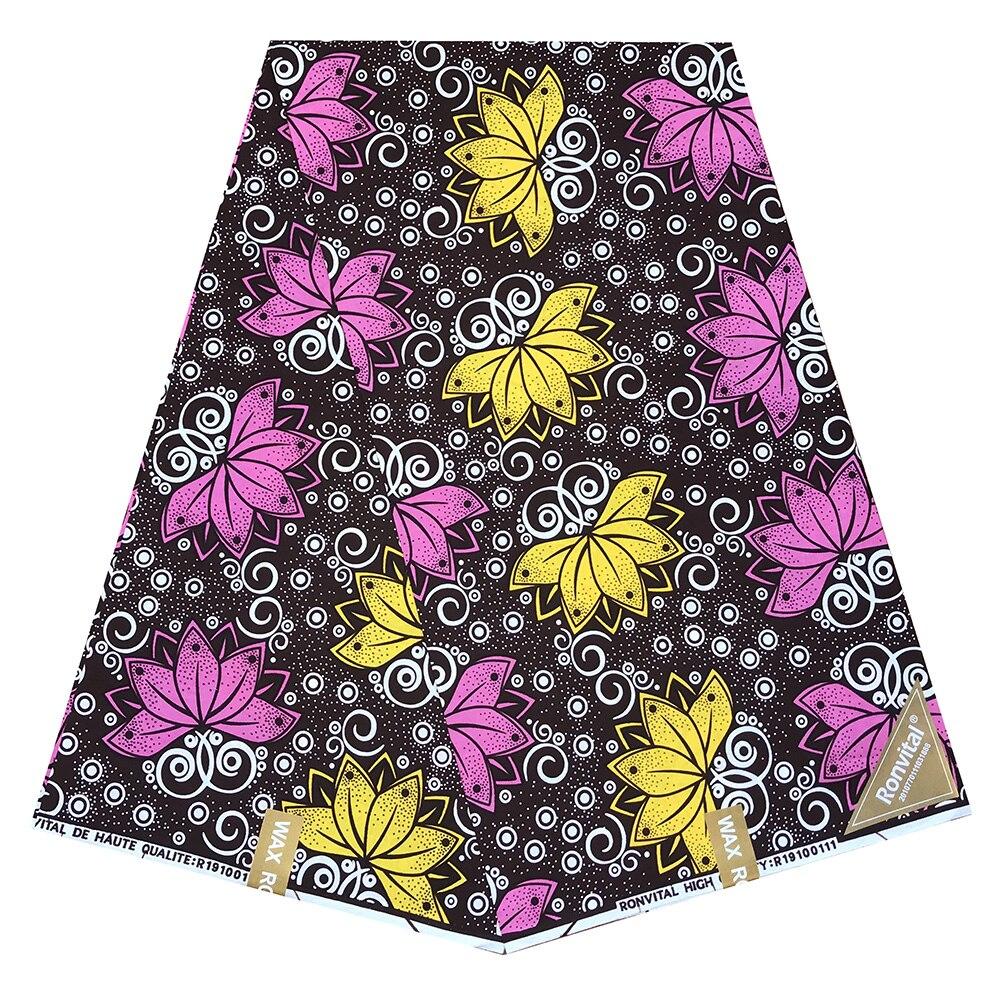 African Wax Print Fabric Cotton High Quality African Fabric For Wedding Dress Sewing Cotton DIY Ankara Fabric 6 Yards / Piece