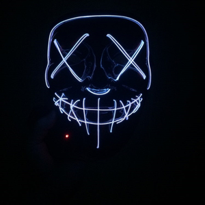 Image 4 - Светодиодный маскарадный светильник на Хэллоуин, Вечерние Маски, светящиеся в темноте