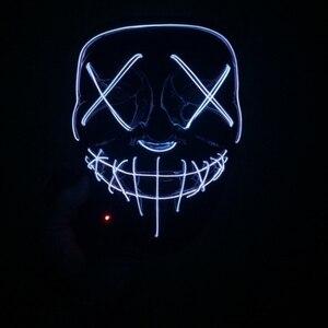 Image 4 - Halloween LED Mask Purge Masks Election Party Mask Light Up Masks Glow In Dark Neon Mask