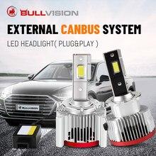 Bullvision-bombillas de xenón de alto brillo para coche, D3S, HID, 30000LM, D1S, D2S, D5S, D4S, D8S, D1R, D2R, D3R, Canbus, sin Error de enchufe y reproducción