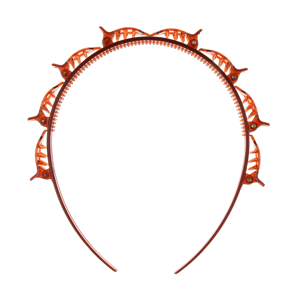 Fashion Double Layer Band Twist Plait Clip Front Hair Clips, Hairpin Headband Beauty Tool Hair Accessory