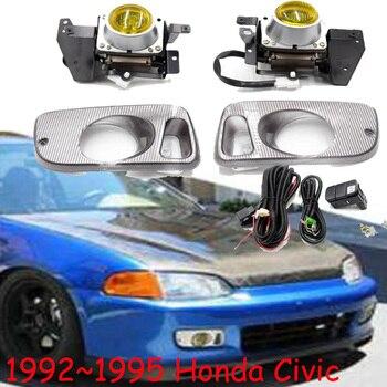 car bumper headlight for Honda Civic fog light 1992~1995y halogen bulb 4300K Wire hanress Headlamp for Civic fog lamp
