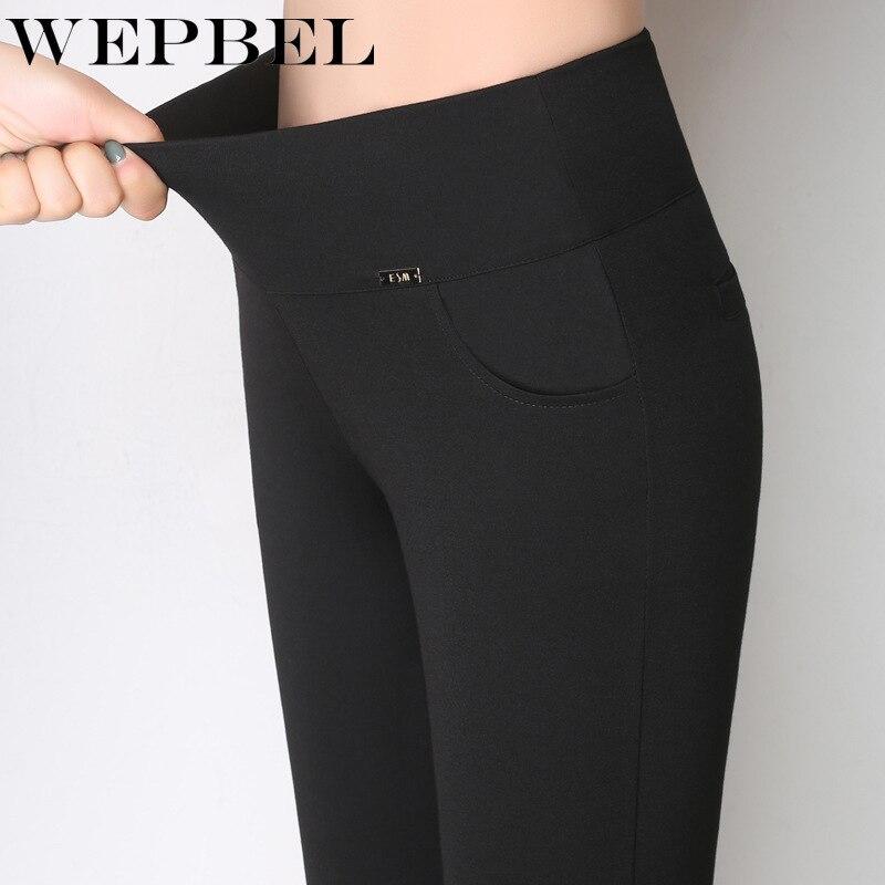 WEPBEL Women Leggings High Waist Slim Casual Fashion Black Autumn Winter Ladies Female Long Legging