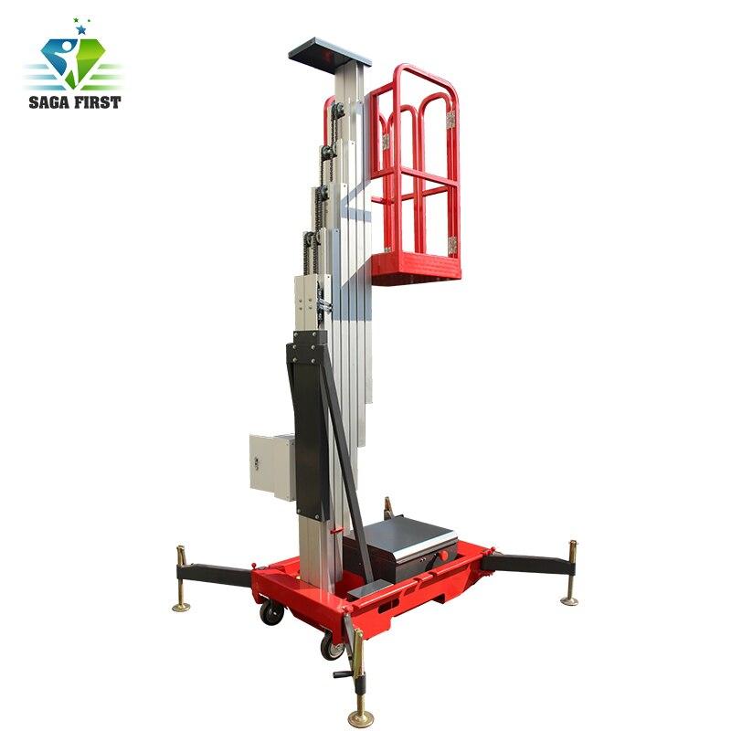 8m Portable Single Mast Electric Aluminum Alloy Aloft Lift Table Skylift Table With CE ISO