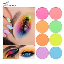 8 cor shimmer sombra de olho maquiagem fosco sombra de olho em pó pigmentado neon festival à prova dwaterproof água olho cosméticos