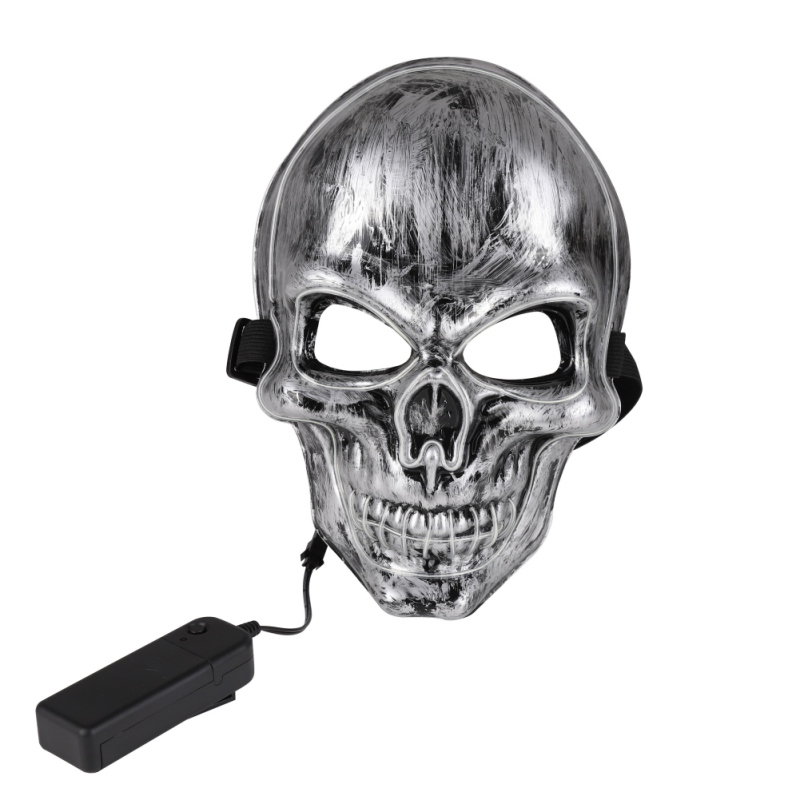 LED Light Up Party Masks Skull Bone Masks Face Year Great Funny Halloween Mask Festival Cosplay Costume Supplies Glow In Dark in Party Masks from Home Garden