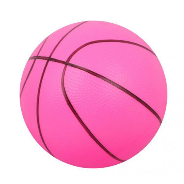Mini Bouncy Basketball Indoor/Outdoor Sports Ball Kids Toy Gift-Rose Red