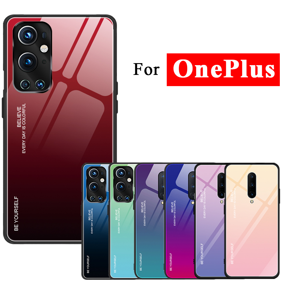 For oneplus 9 pro Case 5g 7 8 pro Cover Phone Cases 1plus 7pro 8pro 9pro Bumper one plus Covers Tempered Glass Funda TPU Skin