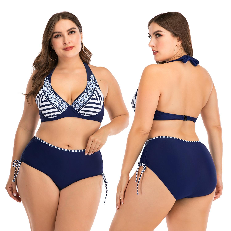 Bikini Fat Girl Swimming Suit For Women  Swimwear  Push Up