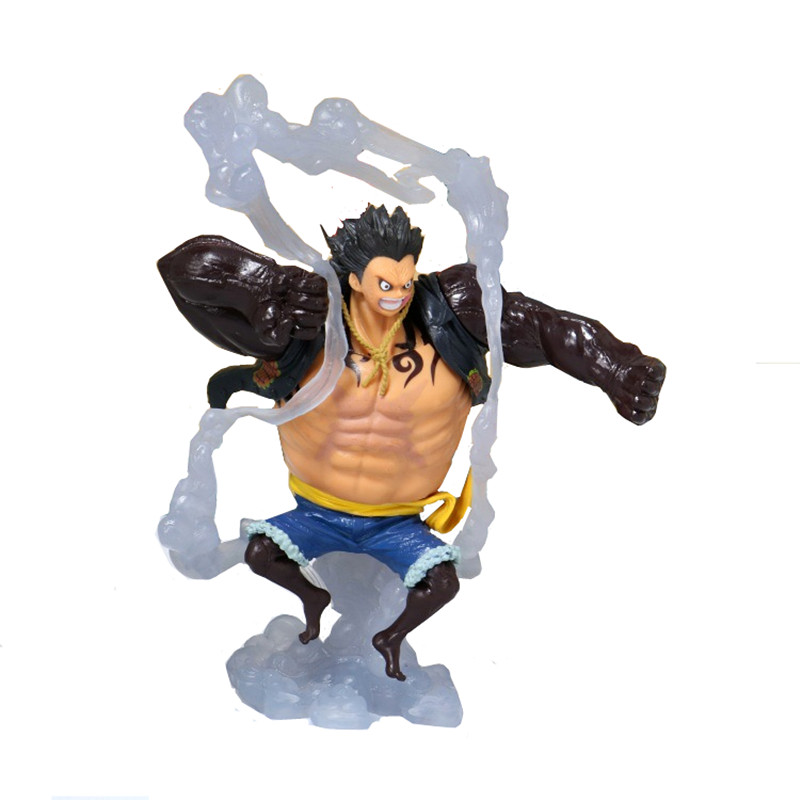 19cm KOA One Piece Action Figure Monkey D Luffy Gear 4 Luffy Fighting Form Bounce Figurine PVC Model Toy Dolls dispensador de cereal peru