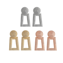 цена на New Stylish Modern Gold Earrings For Women Geometric Western African Bold Earrings Fashion Jewelry 2020