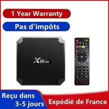 Envío gratuito caja de iptv x96 android 9,0 caja de tv 1GB 8GB 2GB 16GB reproductor multimedia GB x96 smart ip tv mini set top box Barco de Francia