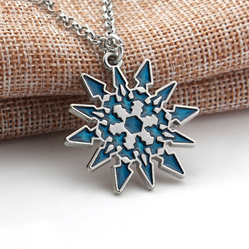 1 RWBY Necklace Pendant snowflake Schnee Blake Belladonna Necklace for Friends Women Jewelry blue Long chain Halloween Gifts image