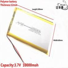 1/2/5 pçs/lote Bom Qulity 3.7V,10000mAH,1260100 Polímero de íon de lítio/bateria de Iões de lítio para o BRINQUEDO, BANCO DO PODER, GPS,