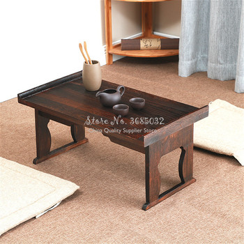 Last One Japanese Table Foldable Leg Rectangle  Wood Traditional Asian Furniture Tea Table Living Room Coffee Tables 50x28x23cm