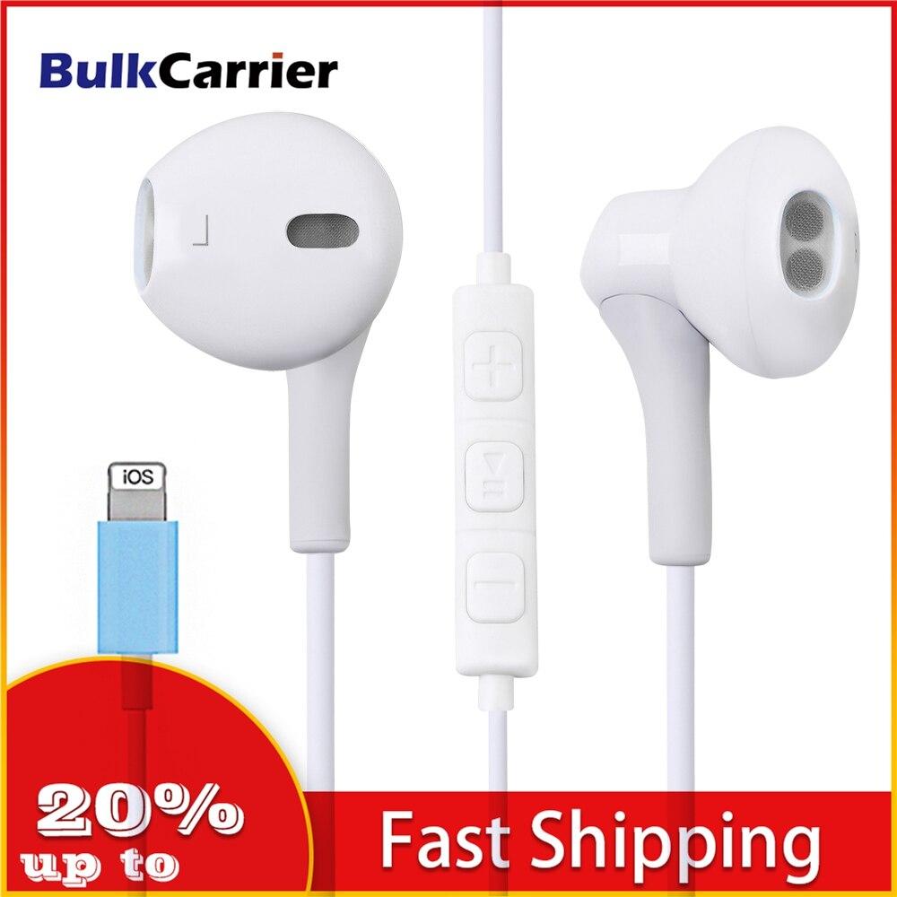 Bluetooth наушники для Iphone, наушники 11 Pro X XS XR, Bluetooth, с микрофоном, проводная гарнитура, разъем 3,5 мм для IPhone 6S 5 SE 6|Наушники и гарнитуры|   | АлиЭкспресс