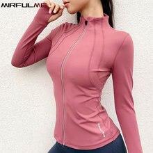 Женские спортивные куртки пальто на молнии для йоги куртка с
