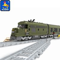 Ausini Military Train Building Block Bricks Set 764pcs Construction Train Series 25003 Technic toys for children