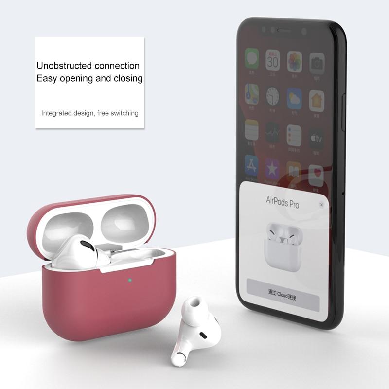 Szilikon borító tok Apple Airpods Pro tokhoz matrica bluetooth tok - Hordozható audió és videó - Fénykép 3