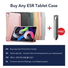 ESR for iPad Air 4 Case for iPad Pro 11/12.9 2021 Case for iPad 8th Gen Case Back Cover with Closure Clasp for iPad Pro 11 Case