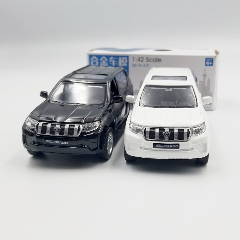 CAIPO 1:42 Scale Toyota Prado SUV Alloy Pull-back Car Diecast Metal Model Car For Collection Friend Children Gift