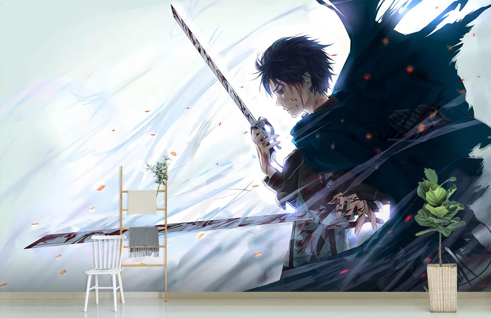 Details about  /3D Attack On Titan I438 Japan Anime Wallpaper Mural Cartoon Wall Mural Amy