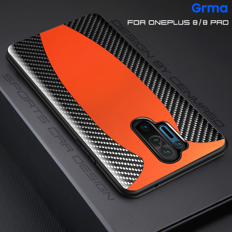 Original Luxury Carbon Fiber Genuine Leather Sports car Case For Oneplus 8 7T 7 Pro 5G 6T 6 Shockproof Protect Phone Case Cover|Fitted Cases| | - AliExpress