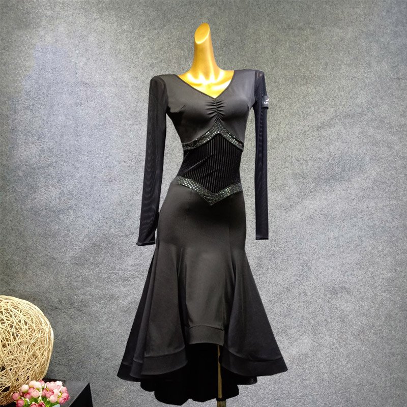 Ballroom Competition Dresses Woman Standard Dance Dress Flamenco Waltz Bullfighting Performance Wear Ladies Rave Outfit DN4293