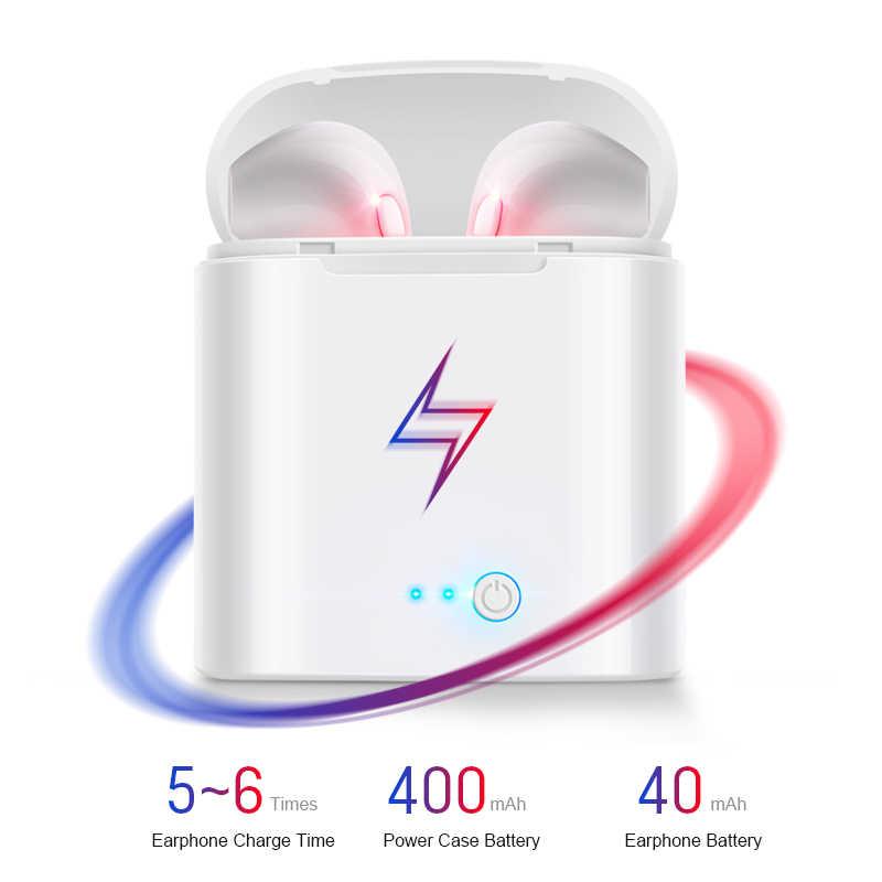 I7s TWS Sans Fil Écouteurs 3D Bluetooth5.0 Écouteurs Android Casque Pour Iphone 7 8 plus x xr Xiao mi mi 9T + Boîte De Recharge Sport
