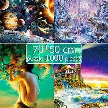 jigsaw puzzle puzzle 1000 pieces 50*70 cm Assembling picture Landscape puzzles toys puzzle game 1000 piece puzzles adults new escape room prop computer jigsaw puzzle system puzzles pieces jxkj1987 real life room escape adventurer game