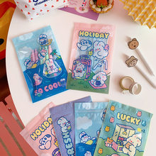 20pcs Candy food Cookies Packaging Bags Mask storage Bag 5 Random Styles Creative Cute Snack Sealed Bag Small Package For Gifts