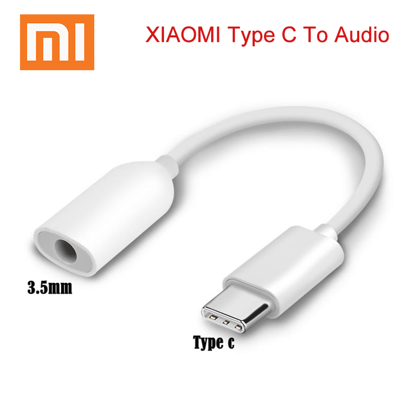 XIAOMI USB Type C to 3.5mm Headphone Jack AUX Audio Cable Adapter for Samsung LG Nexus Oneplus Nokia Huawei Type C Smart Phones-in Phone Adapters & Converters from Cellphones & Telecommunications