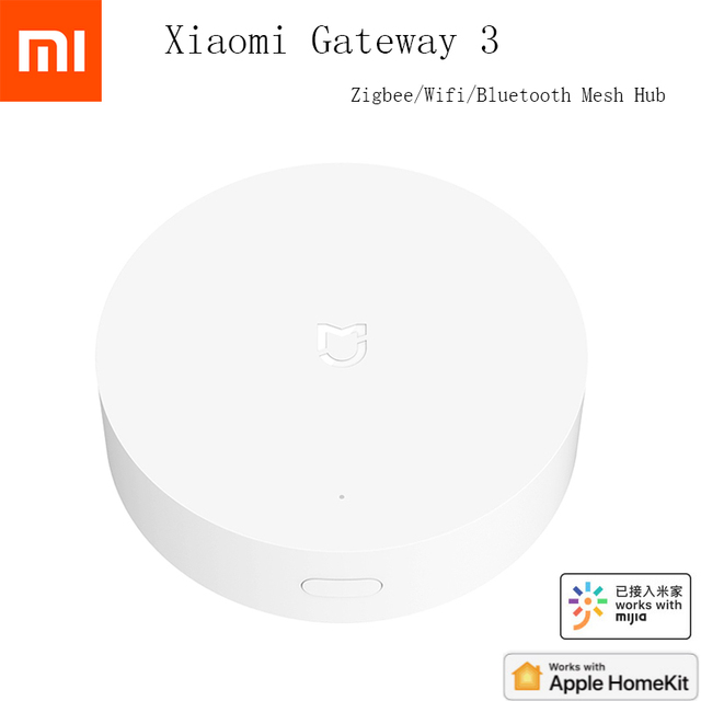 Xiaomi Mijia Multi Mode Smart Gateway Voice Remote Control Automation work with ZigBee 3.0 WIFI Bluetooth Mesh Smart Devices