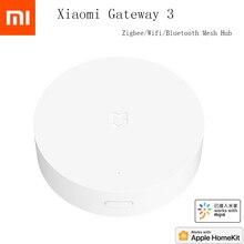Xiaomi Mijia çok modlu akıllı ağ geçidi ses uzaktan kumanda otomasyon ile çalışmak ZigBee 3.0 WIFI Bluetooth örgü akıllı cihazlar