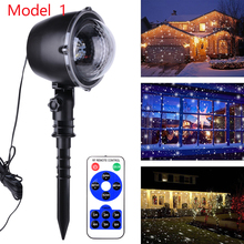 EU/AU/UK Plug LED Projector Snowing Light Outdoor Garden image Landscape Projector Lamp Christmas Lights Spotlight D30 aluminum shell led snowflake star patterns landscape projector christmas projection lamp for us uk eu plug drop shipping