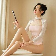 Underwear Dresses Cheongsam-Uniforms Lingerie Babydoll Erotic Chinese Sexy Women Hot