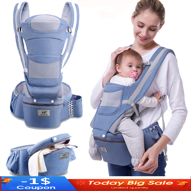 Wrap-Sling Hipseat-Carrier Ergonomic Front-Facing Infant Baby New 3-In-1 0-48-Month