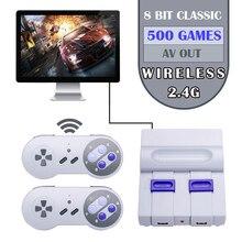 Mini handheld tv & hdmi vídeo game console duplo 2.4g controlador de jogo sem fio 8 bit jogador de jogo retro com 500 em 1 jogos clássicos