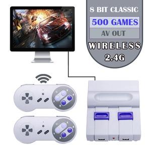Image 1 - Mini ręczny telewizor z dostępem do kanałów i HDMI gra wideo konsola do gier podwójny 2.4G bezprzewodowy kontroler do gier 8 Bit Retro odtwarzacz z 500 w 1 klasyczne gry