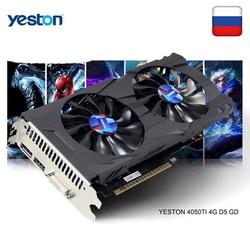 Yeston GeForce GTX 1050Ti GPU 4GB GDDR5 128 Bit Game Komputer Desktop PC Dukungan Video Kartu Grafis Ti