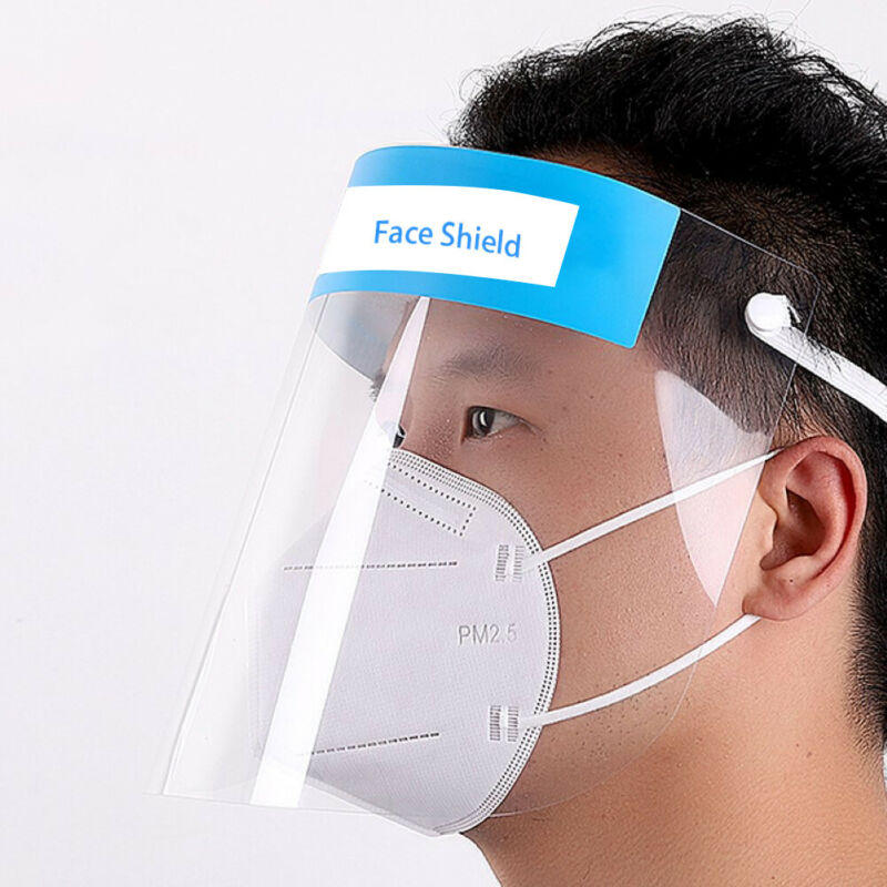 New Mask Anti-fog Empty Top Cap Clear Full Face Splash-proof Protective Mask Adjustable Face Cover Shield Prevent Masks