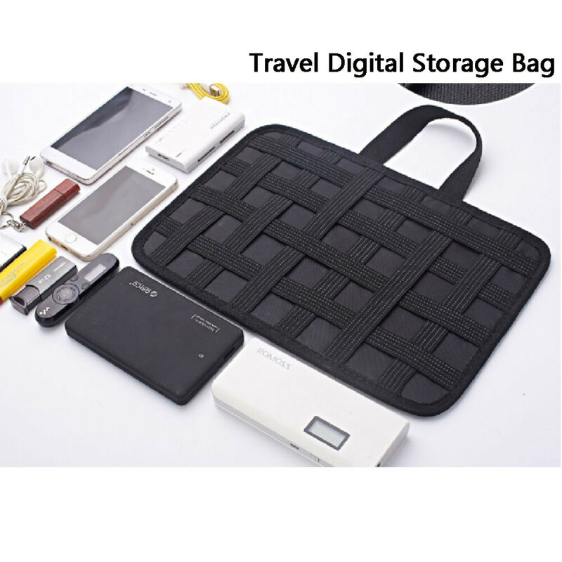 Elastic Storage Plate Board Organizer Case Data Cable Power Pack Charger Digital Organizer Cosmetics Storage 31X21cm