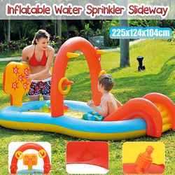 Inflatable Water Sprinkler Pool Water Sprinkler Slides Toy Kids Outdoor Funny Summer Splash PVC Balls Kids' Water Toys