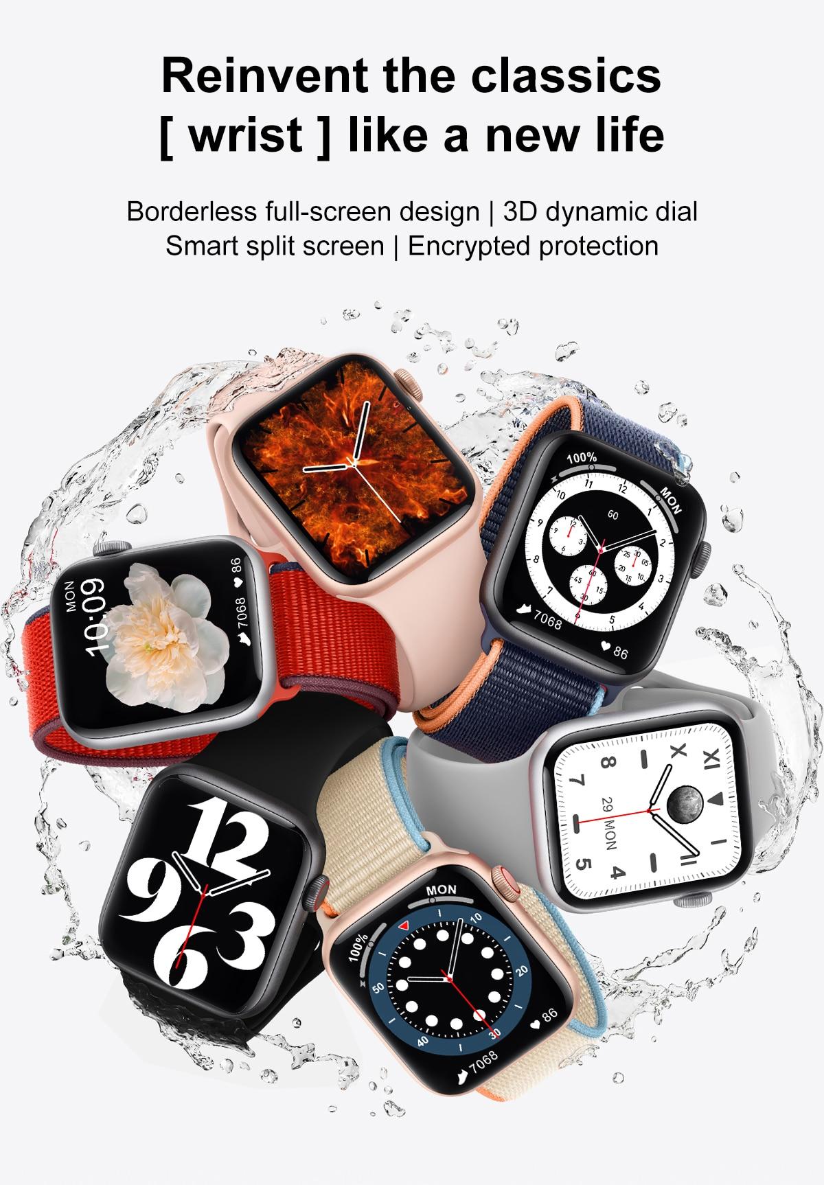 H85ab9aeb429546e5aab43ba3649eb249S DT100 pro Smart Watch Bluetooth Call Custom Dynamic Watch Face IP68 Waterproof Smartwatch Men Women for Apple Watch Iwo W26