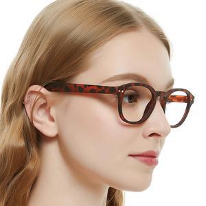 Image 2 - Очки с прозрачными линзами мужские и женские, винтажная оптическая оправа для компьютера, в круглой оправе